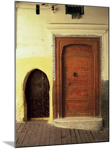 Doors in the Medina, Tangiers, Morocco, North Africa, Africa-Guy Thouvenin-Mounted Photographic Print