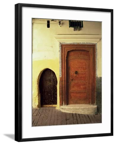 Doors in the Medina, Tangiers, Morocco, North Africa, Africa-Guy Thouvenin-Framed Art Print