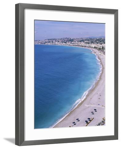 Baie Des Anges, Nice, Alpes Maritimes, Cote d'Azur, French Riviera, Provence, France-Guy Thouvenin-Framed Art Print