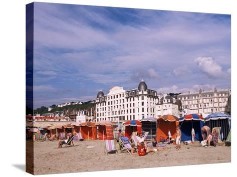 Beach Tents on the Beach, Trouville, Basse Normandie (Normandy), France-Guy Thouvenin-Stretched Canvas Print