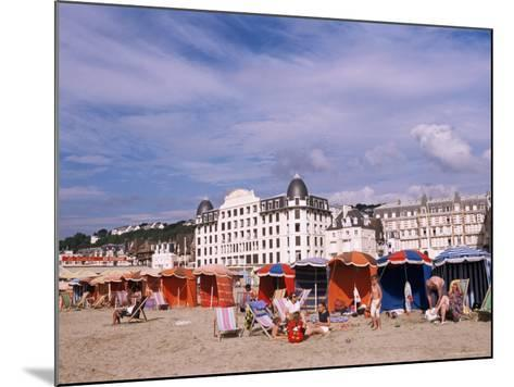 Beach Tents on the Beach, Trouville, Basse Normandie (Normandy), France-Guy Thouvenin-Mounted Photographic Print