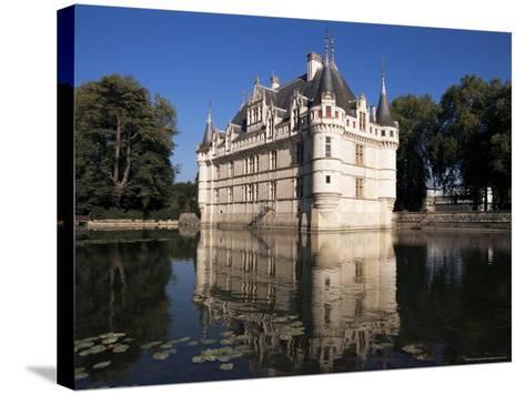 Chateau Azay Le Rideau, Unesco World Heritage Site, Indre-Et-Loire, Loire Valley, Centre, France-Guy Thouvenin-Stretched Canvas Print