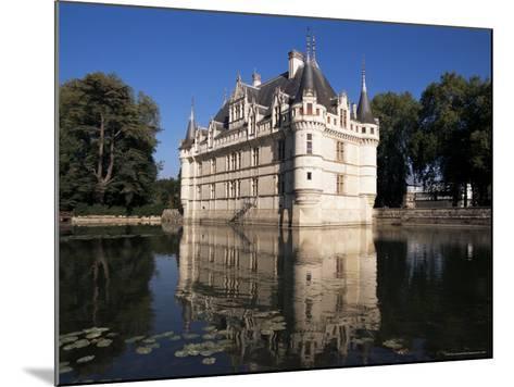 Chateau Azay Le Rideau, Unesco World Heritage Site, Indre-Et-Loire, Loire Valley, Centre, France-Guy Thouvenin-Mounted Photographic Print