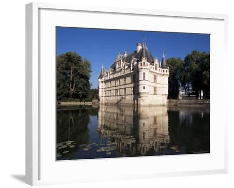 Chateau Azay Le Rideau, Unesco World Heritage Site, Indre-Et-Loire, Loire Valley, Centre, France-Guy Thouvenin-Framed Art Print