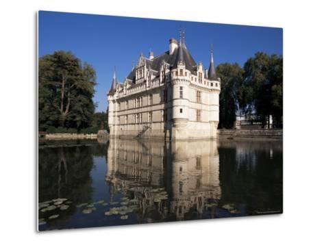 Chateau Azay Le Rideau, Unesco World Heritage Site, Indre-Et-Loire, Loire Valley, Centre, France-Guy Thouvenin-Metal Print