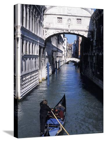 Bridge of Sighs, Venice, Veneto, Italy-Guy Thouvenin-Stretched Canvas Print
