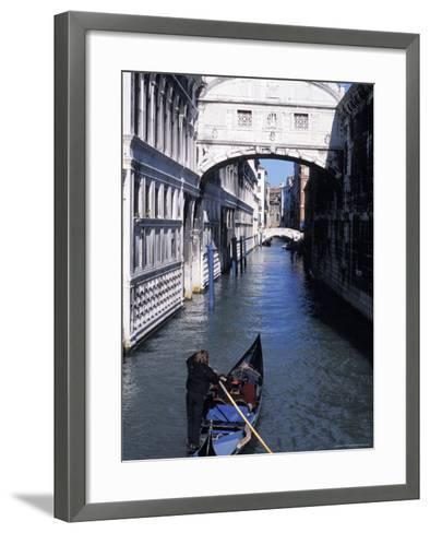 Bridge of Sighs, Venice, Veneto, Italy-Guy Thouvenin-Framed Art Print