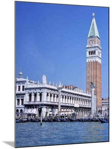Doges Palace and the Campanile, St. Marks Square, Venice, Unesco World Heritage Site, Veneto, Italy-Guy Thouvenin-Mounted Photographic Print