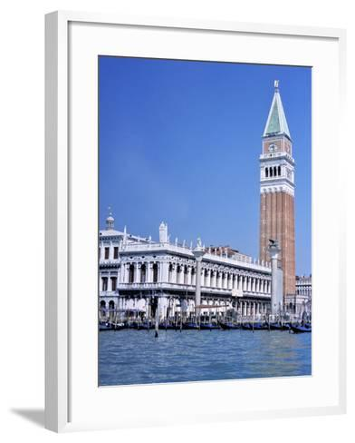 Doges Palace and the Campanile, St. Marks Square, Venice, Unesco World Heritage Site, Veneto, Italy-Guy Thouvenin-Framed Art Print