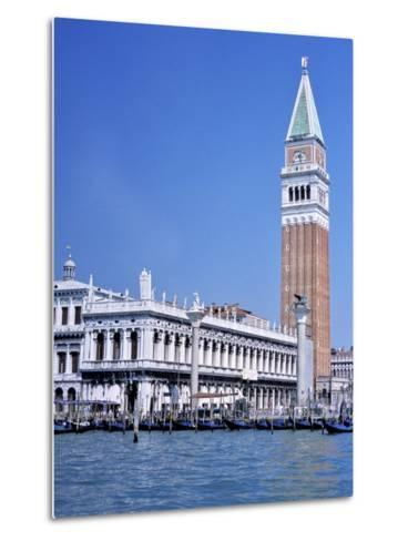 Doges Palace and the Campanile, St. Marks Square, Venice, Unesco World Heritage Site, Veneto, Italy-Guy Thouvenin-Metal Print