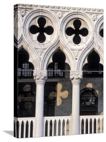 Italie, Venise / Italy, VenicePlace St. Marc, Doges Palace DetailDetail of the Doges Palace-Guy Thouvenin-Stretched Canvas Print