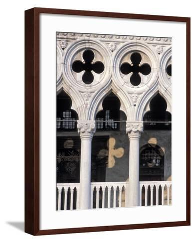 Italie, Venise / Italy, VenicePlace St. Marc, Doges Palace DetailDetail of the Doges Palace-Guy Thouvenin-Framed Art Print