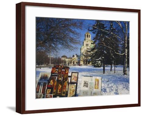 Alexander Nevski Cathedral, Sophia, Bulgaria-Tom Teegan-Framed Art Print