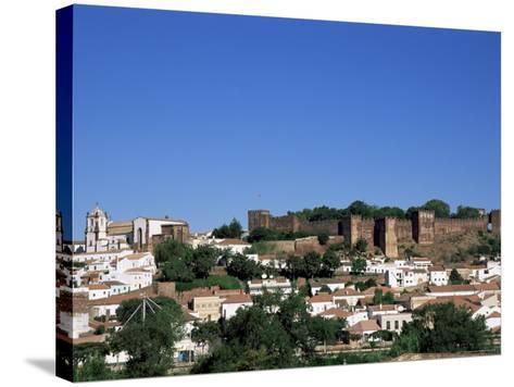 Castel Dos Mouros Overlooking Town, Silves, Algarve, Portugal-Tom Teegan-Stretched Canvas Print