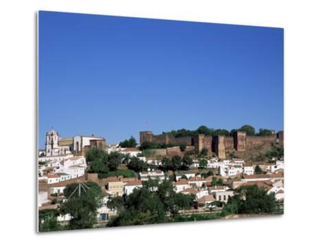 Castel Dos Mouros Overlooking Town, Silves, Algarve, Portugal-Tom Teegan-Metal Print