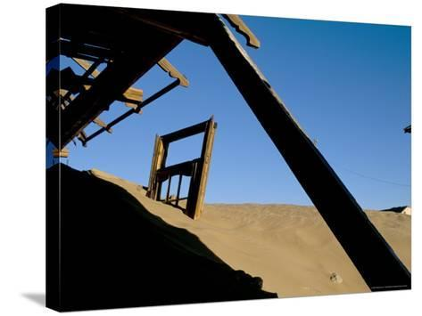 Diamond Mining Ghost Town, Kolmanskop, Namib Desert, Luderitz, Namibia, Africa-Steve & Ann Toon-Stretched Canvas Print