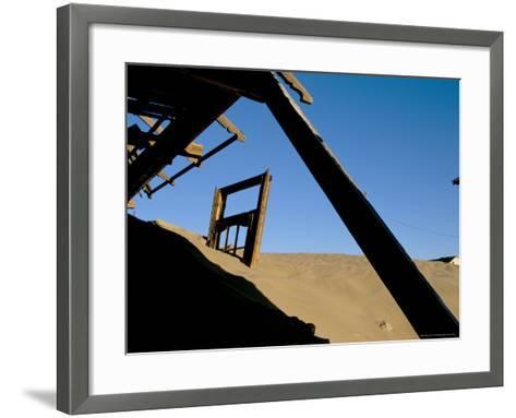 Diamond Mining Ghost Town, Kolmanskop, Namib Desert, Luderitz, Namibia, Africa-Steve & Ann Toon-Framed Art Print