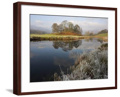 River Brathay in Winter, Near Elterwater, Lake District, Cumbria, England, United Kingdom-Steve & Ann Toon-Framed Art Print