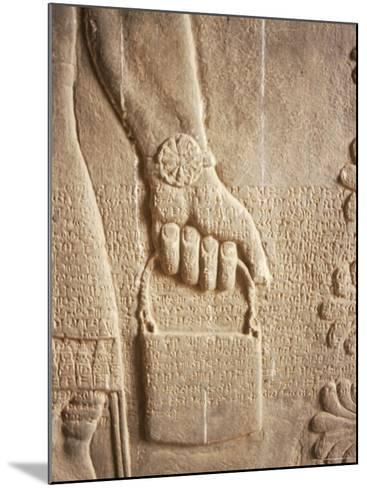 Close up of Carved Relief, Nimrud, Iraq, Middle East-Nico Tondini-Mounted Photographic Print