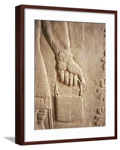 Close up of Carved Relief, Nimrud, Iraq, Middle East-Nico Tondini-Framed Art Print