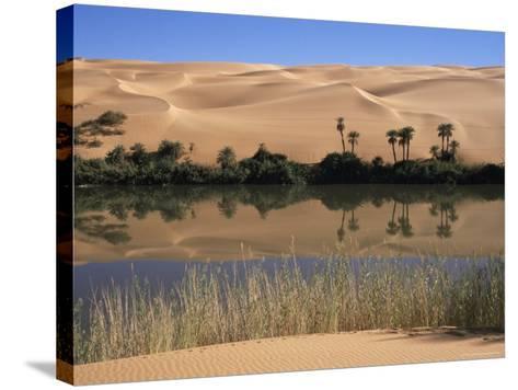 Oum El Ma Lake, Mandara Valley, Southwest Desert, Libya, North Africa, Africa-Nico Tondini-Stretched Canvas Print
