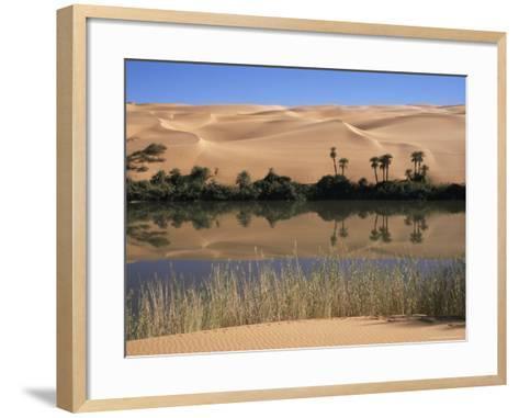 Oum El Ma Lake, Mandara Valley, Southwest Desert, Libya, North Africa, Africa-Nico Tondini-Framed Art Print