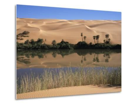 Oum El Ma Lake, Mandara Valley, Southwest Desert, Libya, North Africa, Africa-Nico Tondini-Metal Print