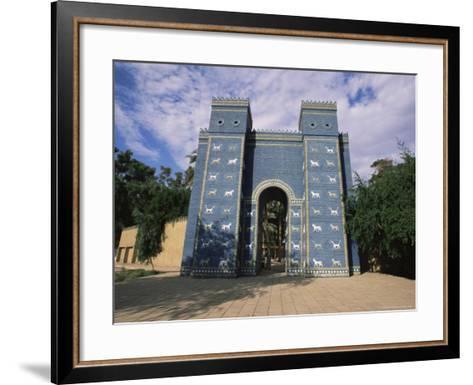 Ishtar Gate, Babylon, Iraq, Middle East-Nico Tondini-Framed Art Print
