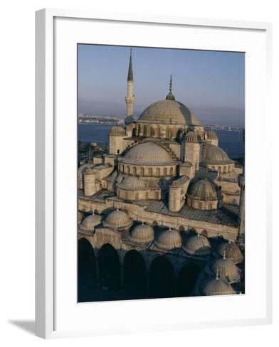 Sultan Ahmet I Mosque (The Blue Mosque), Unesco World Heritage Site, Istanbul, Turkey-John Henry Claude Wilson-Framed Art Print