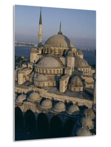 Sultan Ahmet I Mosque (The Blue Mosque), Unesco World Heritage Site, Istanbul, Turkey-John Henry Claude Wilson-Metal Print
