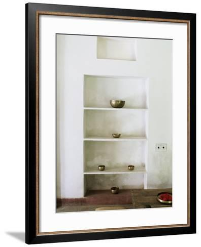 Zen Ambiance Instilled into an Old Farm House Conversion Now a Residence, Amber, Near Jaipur, India-John Henry Claude Wilson-Framed Art Print