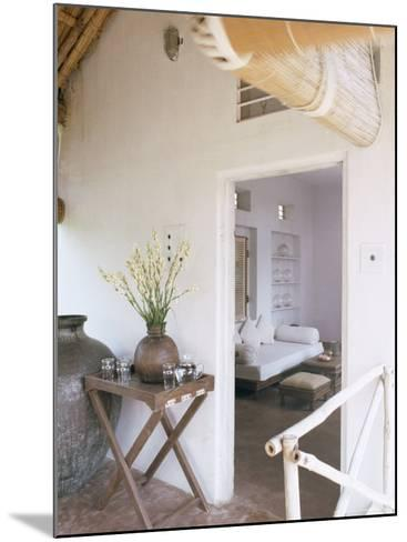 Zen Ambiance Instilled into an Old Farm House Conversion Now a Residence, Amber, Near Jaipur, India-John Henry Claude Wilson-Mounted Photographic Print