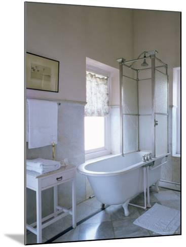 One of the Original Bathrooms from the 1930s and 1940s, Udai Bilas Palace-John Henry Claude Wilson-Mounted Photographic Print