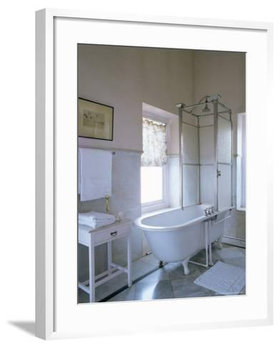 One of the Original Bathrooms from the 1930s and 1940s, Udai Bilas Palace-John Henry Claude Wilson-Framed Art Print