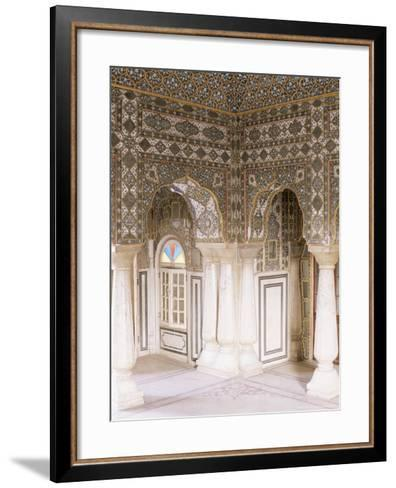 The Sheesh Mahal (Mirrored Hall) (Hall of Mirrors), the City Palace, Jaipur, Rajasthan State, India-John Henry Claude Wilson-Framed Art Print