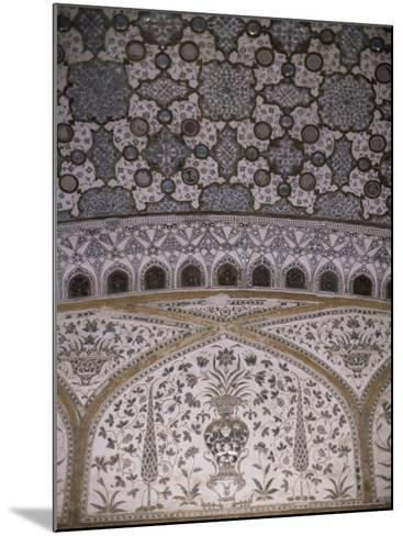 Interior Decorative Detail, Amber Fort, One of the Great Rajput Forts, Amber, Near Jaipur, India-John Henry Claude Wilson-Mounted Photographic Print