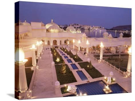 Udai Vilas Oberoi Resort Hotel, Udaipur Lake, Udaipur, Rajasthan State, India-John Henry Claude Wilson-Stretched Canvas Print