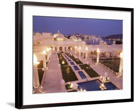 Udai Vilas Oberoi Resort Hotel, Udaipur Lake, Udaipur, Rajasthan State, India-John Henry Claude Wilson-Framed Art Print