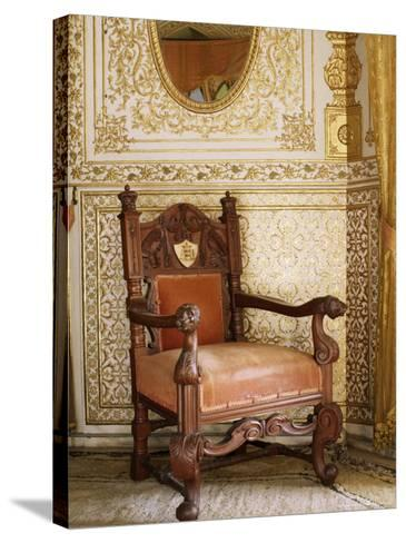 An Original Chair Used at the Coronation of King George the Fifth in 1911, Sirohi, India-John Henry Claude Wilson-Stretched Canvas Print