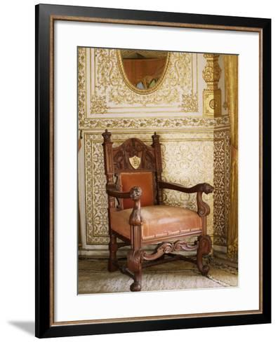 An Original Chair Used at the Coronation of King George the Fifth in 1911, Sirohi, India-John Henry Claude Wilson-Framed Art Print