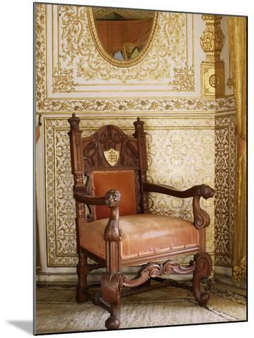 An Original Chair Used at the Coronation of King George the Fifth in 1911, Sirohi, India-John Henry Claude Wilson-Mounted Photographic Print
