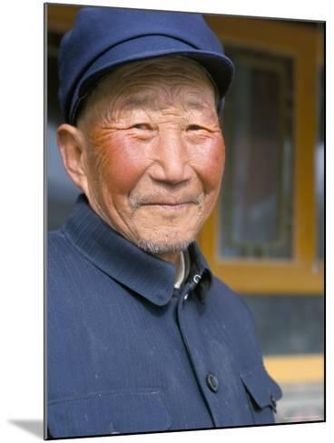 Portrait of a Han Farmer, Near Xining, Qinghai, China-Occidor Ltd-Mounted Photographic Print