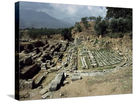 The Theatre at Ancient Sparta, Peloponnese, Greece-Loraine Wilson-Stretched Canvas Print