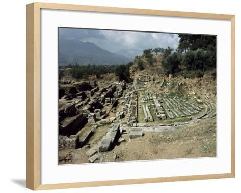 The Theatre at Ancient Sparta, Peloponnese, Greece-Loraine Wilson-Framed Art Print