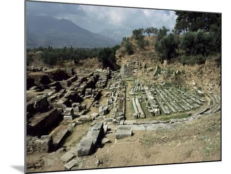 The Theatre at Ancient Sparta, Peloponnese, Greece-Loraine Wilson-Mounted Photographic Print
