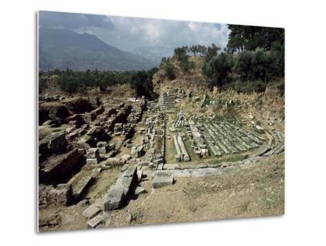 The Theatre at Ancient Sparta, Peloponnese, Greece-Loraine Wilson-Metal Print