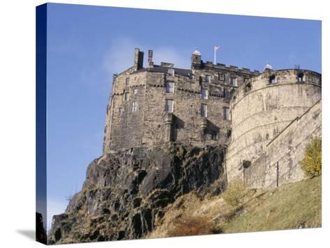Edinburgh Castle, Edinburgh, Lothian, Scotland, United Kingdom-R H Productions-Stretched Canvas Print