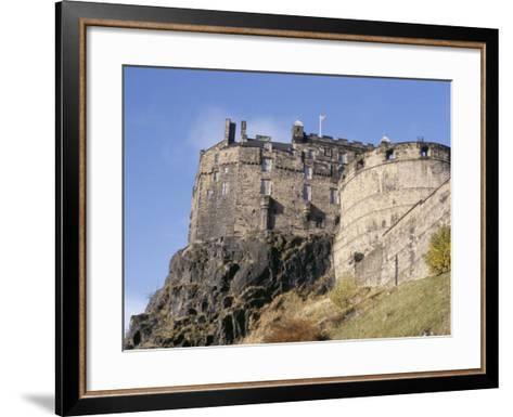 Edinburgh Castle, Edinburgh, Lothian, Scotland, United Kingdom-R H Productions-Framed Art Print