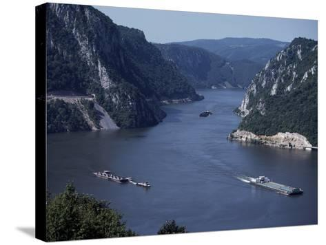 Iron Gates Area of the River Danube (Dunav), Serbia-Adam Woolfitt-Stretched Canvas Print