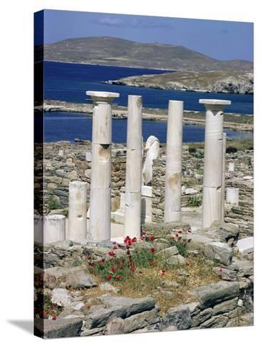 Archaeological Site, Delos, Unesco World Heritage Site, Greece-Adam Woolfitt-Stretched Canvas Print
